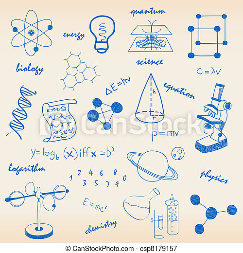 Science Icons - Royalty Free EPS Clip Art - Csp8179157