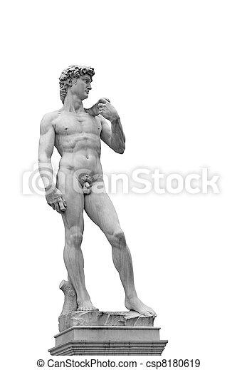 Statue of David - csp8180619