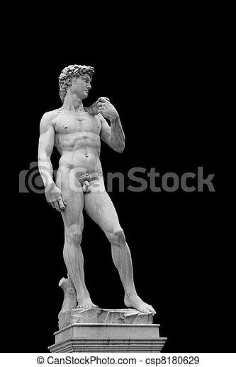 Statue of David - csp8180629