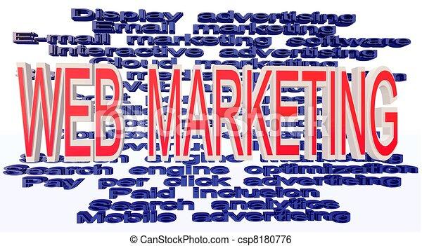 web marketing terminologies - csp8180776