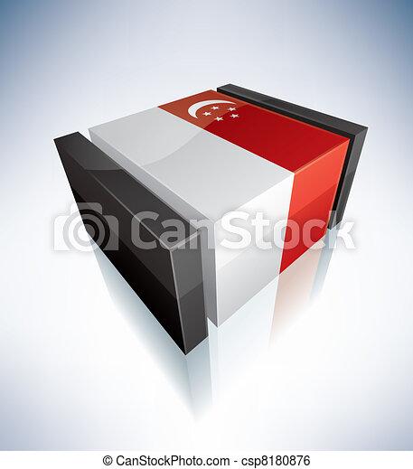 3D flag of Saudi Arabia - csp8180876