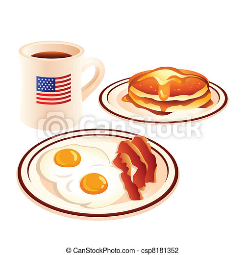 American breakfast - csp8181352