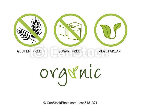 Healthy food symbols - csp8181371