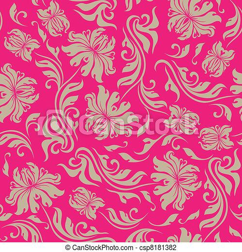 seamless floral pattern - csp8181382