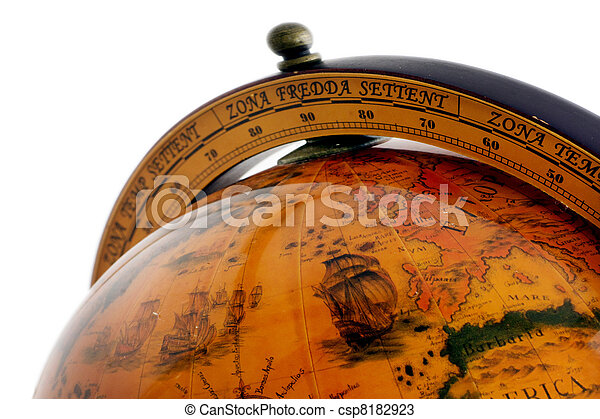 World Old Globe Map - csp8182923