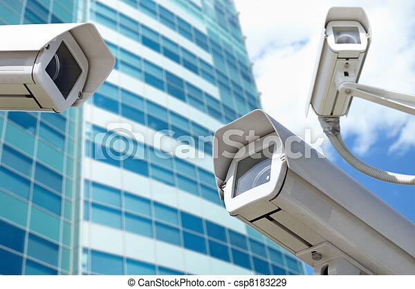 surveillance cameras - csp8183229