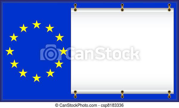 Flag EU. - csp8183336