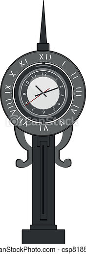 old-fashion clock with pendulum - csp8185465