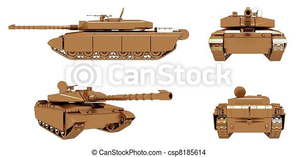 Military Gold Tank - csp8185614