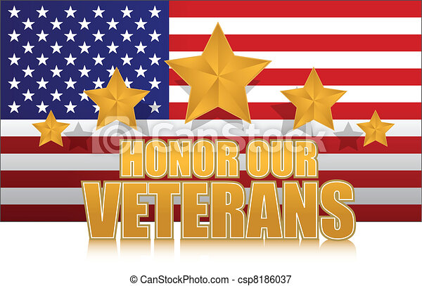 us honor our veterans gold - csp8186037