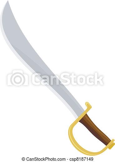 Vecteurs eps de sabre pirate pirate sabre csp8187149 recherchez des images graphiques clip - Dessin de sabre ...