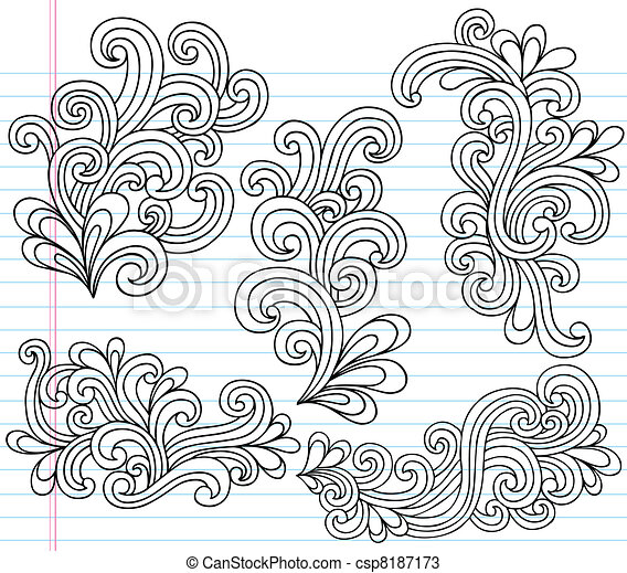 Swirly Doodles Vector Set - csp8187173