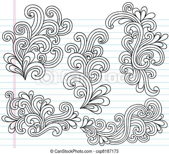 Swirly Doodles Vector Set - csp8187173