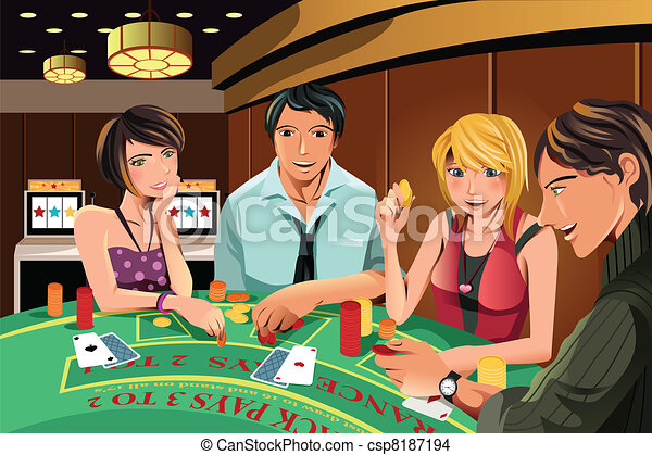 People gambling in casino - csp8187194