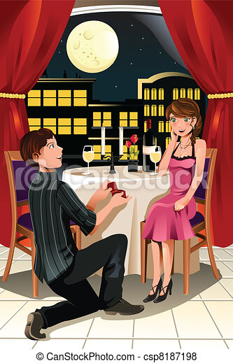Marriage proposal - csp8187198