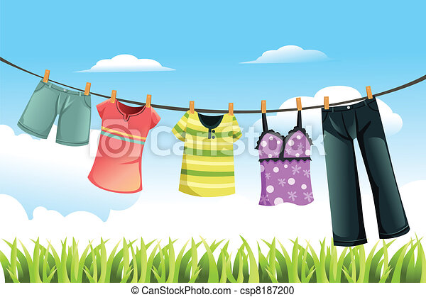 Drying clothes - csp8187200