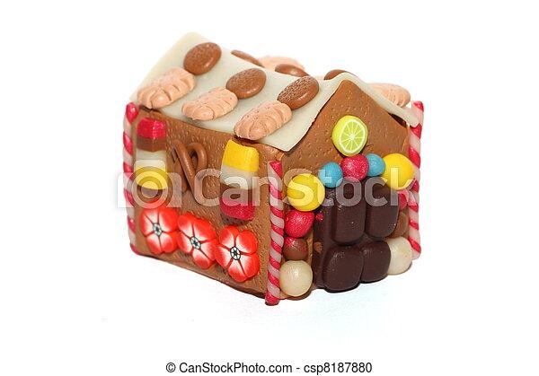 Photographies de les massepain maison a fait main fimo massepain csp8187880 - Maison en biscuit et bonbons ...