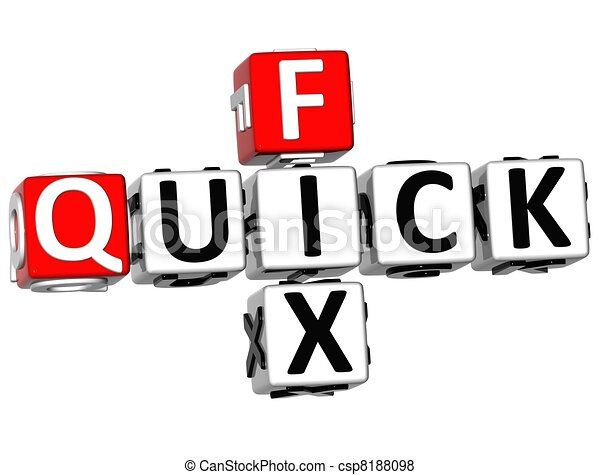 3D Quick Fix Crossword - csp8188098