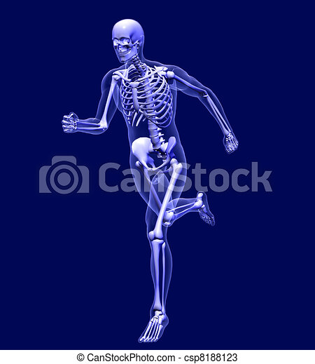 X-Ray Man Running - csp8188123