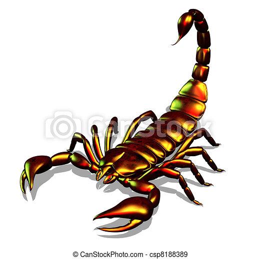 Archivio illustrazioni di scorpione metallico metallico for Disegno 3d free