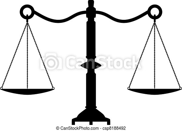 vector antique scales of justice - csp8188492