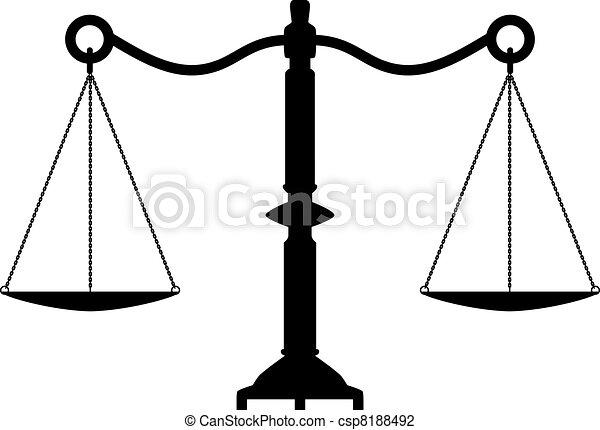 vector antique scales of justice - csp8188492