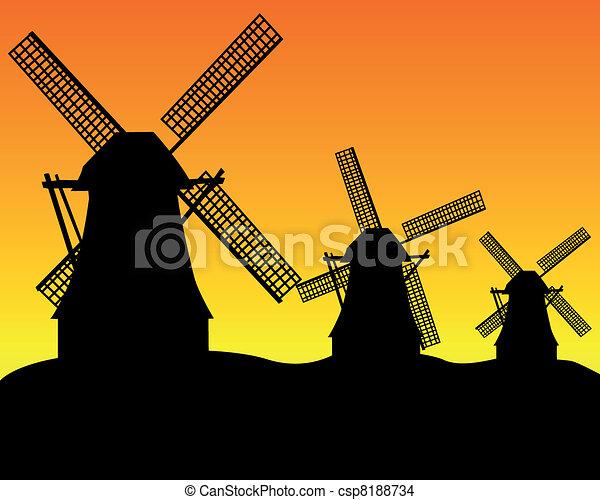 three wind turbines - csp8188734