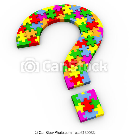 3d puzzle question mark - csp8189033
