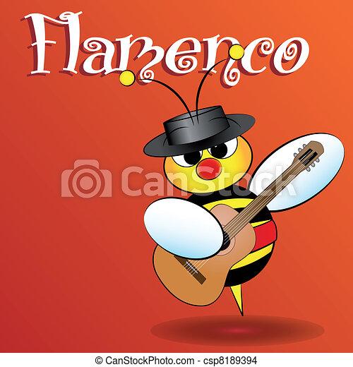 Spanish bee - Kid Illustration - csp8189394