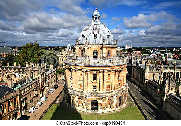 Oxford library and spires - csp8190434