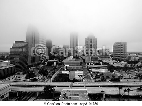 Tampa in the Fog - csp8191759