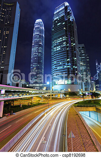 traffic through downtown HongKong - csp8192698