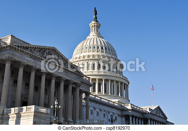 Capitol Hill Building in United States of America - csp8192970