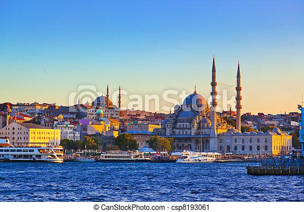 Istanbul sunset - csp8193061