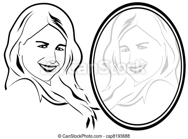 Mirror Reflection Drawings The Mirror Csp8193688