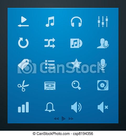 Universal glyphs 4. Audio and music - csp8194356