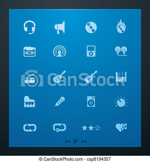Universal glyphs 5. Audio and music - csp8194357