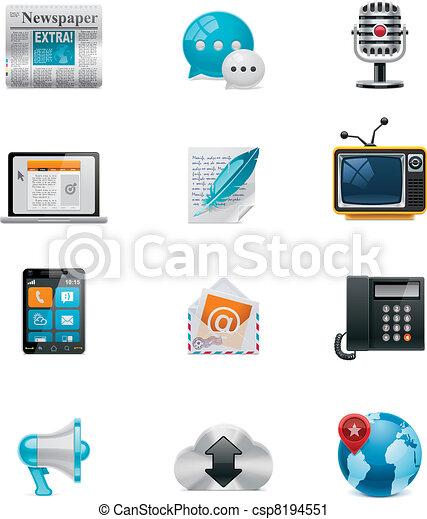 Vector communication&social media - csp8194551