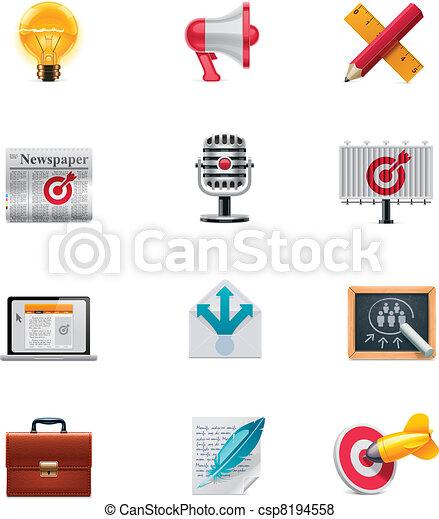 Vector marketing icon set - csp8194558