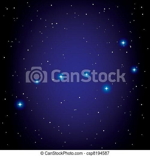 vector constellation of Big Dipper - csp8194587