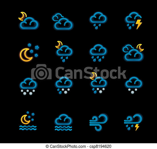 Vector weather forecast icons. P.2 - csp8194620