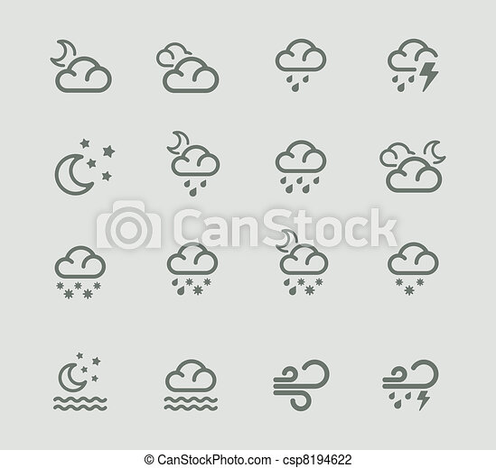 Vector weather forecast pictogram - csp8194622