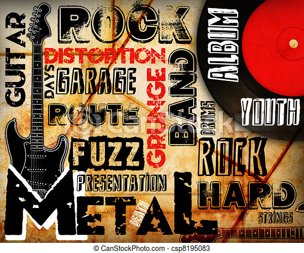 Rock Music poster - csp8195083
