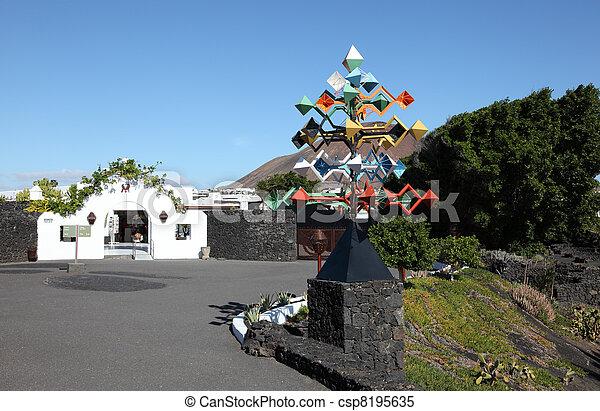 House of Cesar Manrique, Lanzarote, Canary Islands Spain. Photo taken at 15th December 2011 - csp8195635