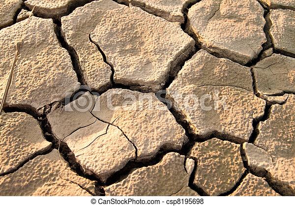Cracked lifeless soil - csp8195698