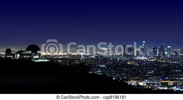 Los Angeles Above Griffith Observatory Los Angeles, California - csp8196181