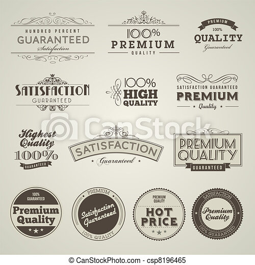 Vintage Premium Quality labels - csp8196465