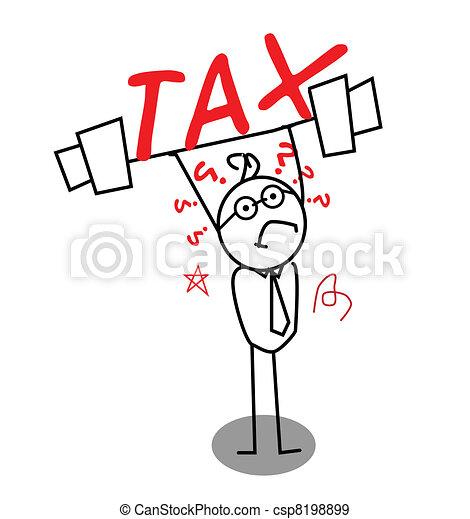 Tax for weak businessman - csp8198899