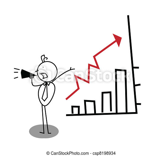 promotion Business Up Chart  - csp8198934