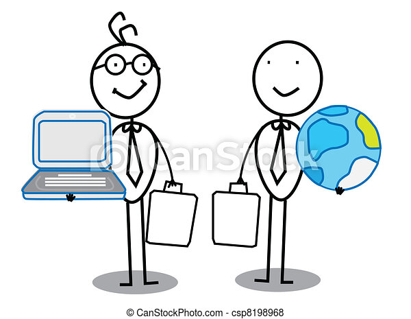 Businessman Team work  - csp8198968